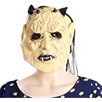 SaiDeng Maschera Di Halloween Spaventoso Con Capelli Fancy Dress Adulti