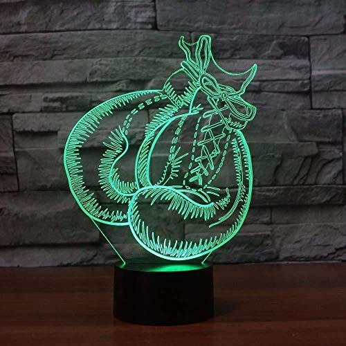 3D USB Boxhandschuh Tischlampe Visuelle Led 7 Farben Stimmung Dimmen Schlaf Nachtlicht Kinder Spielzeug Leuchte Schlafzimmer Dekor Geschenke