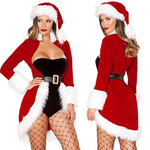 CoURTerzsl Sexy Frauen Weihnachten Cosplay Santa Hut Flauschigen -