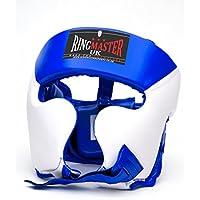 RingMasterUK - Protector de cabeza infantil para artes marciales, boxeo, MMA, kickboxing., Infantil, color azul, tamaño Small