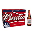 Budweiser Lager Beer Bottle, 15 x 300 ml