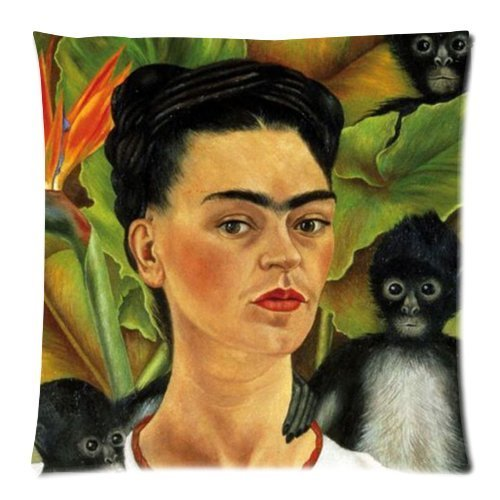 Hot Selling frida-kahlo background printed Zippered throw Pillowcase/Kissenbezüge&Pillow case/Kissenbezüge Cover Standard 18