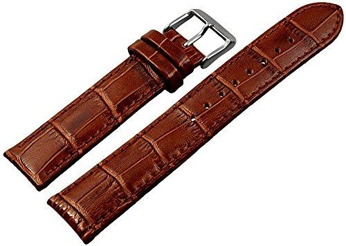 Engelhardt Leder Uhrenarmband Uhrenband Uhrband Ersatzband Armband braun 865170700220 Stegbreite 20 mm
