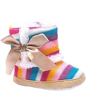 OverDose Baby Mädchen Regenbogen Soft Sole Schnee Stiefel Soft Crib Schuhe Anti-Rutsch Kleinkind Stiefel Babyschuhe