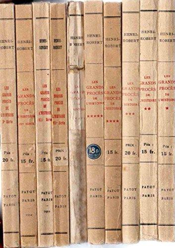 Les grands procs de l'histoire - 10 tomes avec 447 illustrations au total