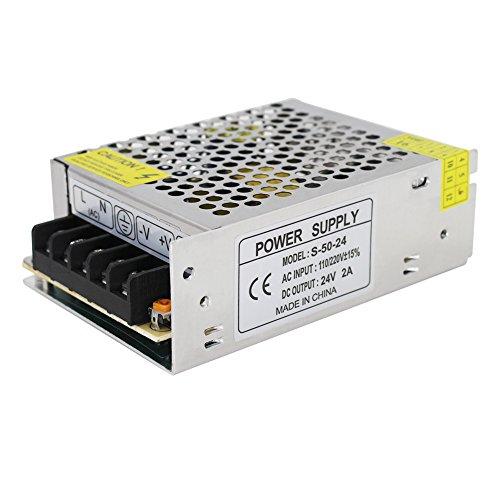 neekeons AC 110V 220V a DC 24V 2A Interruptor Fuente de alimentación controlador