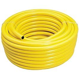 Draper 56314 – Tubo per irrigazione rinforzato con foro da 12 mm, PVC, Giallo, 30 m