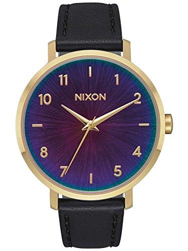 Nixon Unisex Erwachsene Analog Quarz Uhr mit Leder Armband A1091-2766-00