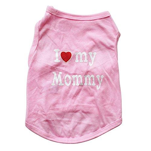Welpen Kleinkind Kostüm Für - ghfashion Fashion Ärmellose Weste für kleine Hunde und Welpen, mit Aufschrift I Love My Daddy Mommy