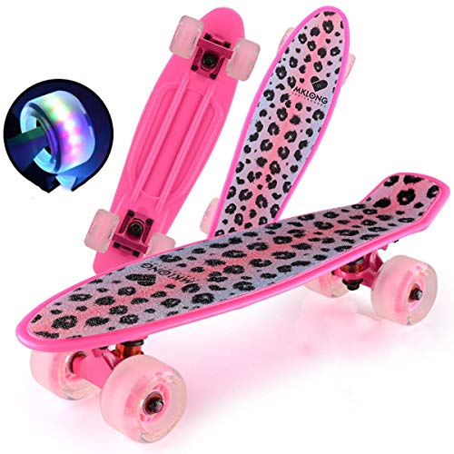 Daxiong Skateboard Professional Fish Board Anfänger Entry Road Travel Brush Street Männer und Frauen Erwachsene Big Four Wheel Scooter,3 (Rucksack Penny Board-skateboard)
