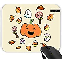 Muismat - Halloween Doodles Facce Buffe by (Autumn Leaves Tessuto)