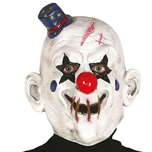 faschingshop24 Horror Clown Latex Maske Clownmaske Halloween