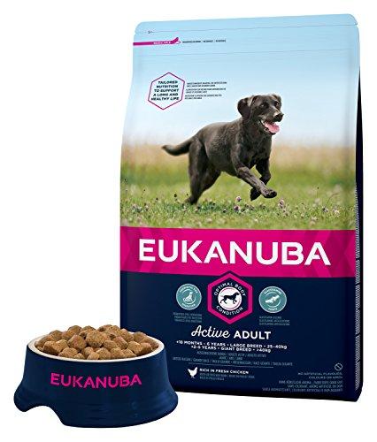 Eukanuba Adult Large Breed Trockenfutter (für erwachsene Hunde grosser Rassen, Premiumfutter mit Huhn), 3 kg Beutel - 5