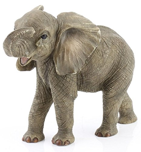 African Elephant Baby 'Missing You' Leonardo Statue 'Out of Africa' Collection - realistic 12 cm tall decorative figure with teardrop on cheek - No. 4 from the collection
