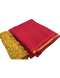 High Glitz Fashion Women's Party Wear Red Color Chanderi Cotton Sarees For Women Latest Design Sarees New Collection...