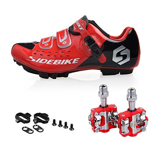 Scarpe da Ciclismo MTB per Mountain Bike Unisex Adulto con Pedali (Si Prega di Scegliere Una Taglia pišŽ Grande)