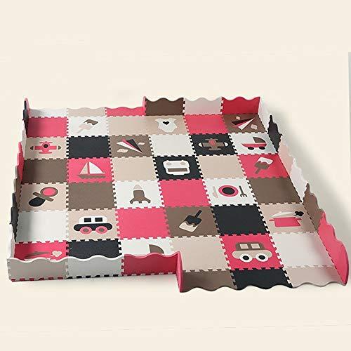 SCJS Feuchtigkeitsfeste pad Umweltschutz Eva Dickes Puzzle Baby Krabbeldecke Umweltschutz Klettermatten Kinder Nähen Zaun Teppich (Größe: 180 * 180 cm-1)