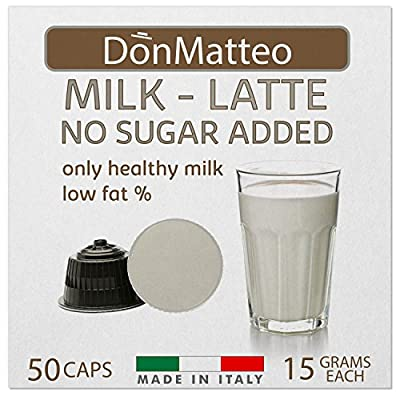 DonMatteo 50 Milk Latte Dolce Gusto Compatible Coffee Capsules (50 Pods 50 Servings) from DonMatteo