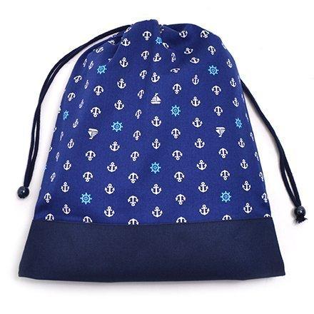 Cambio di vestiti facilmente borsa (grande formato), abbigliamento da palestra borsa Ocean Marine x tela, blu scuro made in Japan N3344700 (japan