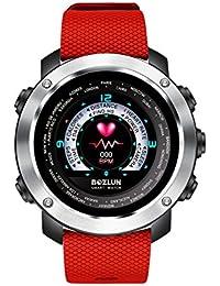 Reloj inteligente con pantalla de color y contador de pasos, monitor de ritmo cardíaco, podómetro, pista de sueño,…