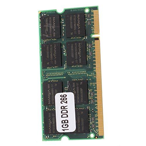 SODIAL(R) 1GB Memoria RAM Memoria PC2100 DDR CL2.5 DIMM 266MHz 200 pines ordenador portatil