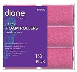 Diane Foam Rollers, Pink, 1.5, 6/bag