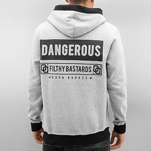Dangerous DNGRS Uomo Maglieria / Hoodies con zip Badass Grigio