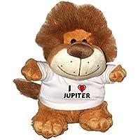Comparador de precios León de peluche (Fetzy) con Amo Jupiter en la camiseta (nombre de pila/apellido/apodo) - precios baratos