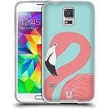 Head Case Designs Rosa Fashion Flamingos Soft Gel Hülle für Samsung Galaxy S5 / S5 Neo