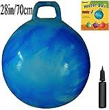 Apple Round Global Trading LLC - Palla per saltare, dimensioni da adulti; pompa fornita in dotazione, per saltare come dei canguri, basta sedersi e saltare, diametro 70 cm