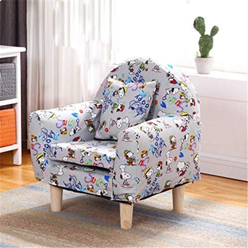 WJH Kinder Sofa,Kinder Sessel Mini Single Möbel Stetigen Haltbarkeit Gemütlich Cute Faul Cartoon Forliving Zimmer Schlafzimmer Indoor-E 43x51cm(17x20inch)