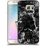 Head Case Designs Noir Empreintes De Marbre Étui Coque D'Arrière Rigide Pour Samsung Galaxy S7 edge