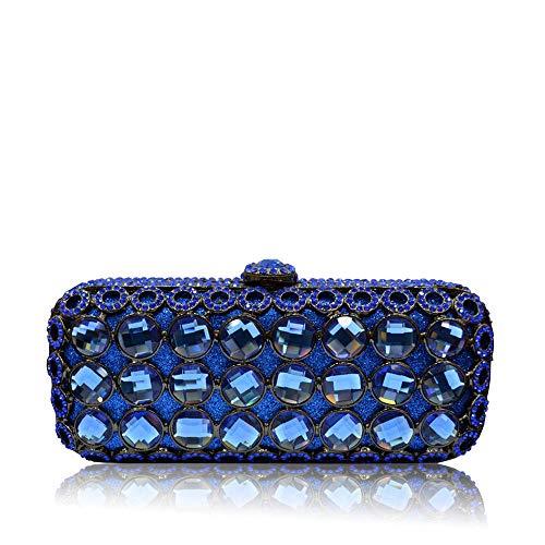 jx-bags Abendessen Tasche Edelstein-Set Diamant High-End-Business-Geschenk Clutch Bag High-End-Geschenk Hochzeitsgeschenk Lady @ Blue