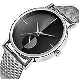 Armbanduhr Damen Ronamick Damen Mode Klassiker Goldquarz Edelstahl Armbanduhr Armband Uhr Uhren (Silber)