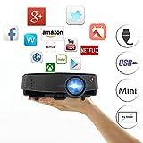 Best Projecteurs Hd Home Cinéma Multimédia Lcd Led - Projecteur LCD Numérique Portable avec HDMI USB pour Review