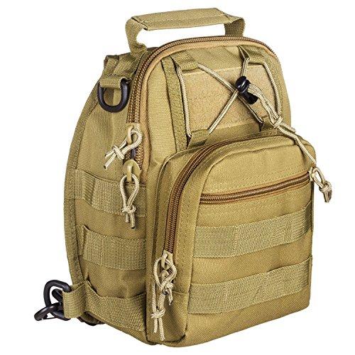 HOAEY Outdoor-Zaino tattico militare a tracolla da viaggio, campeggio o escursionismo, Trekking, da donna, uomo, F