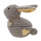 amelex 67 Stop-Porte Coniglio, Tessuto Resistente in Lana Dolce Decorato di Un Piccolo Cuore, riempimento Pesante, 100% Acrilico