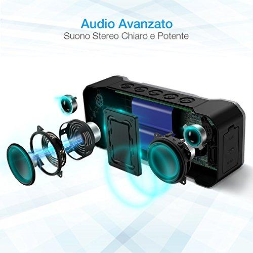 Poweradd-Cassa-Bluetooth-Wireless-Waterproof-con-Alte-Prestazioni-Sonore-Dotato-di-4-Speakers-per-un-Totale-di-36W-Altoparlante-Bluetooth-Portatile-con-Impermeabilit-IPX7-a-Prova-di-Urti-e-Polvere-Per