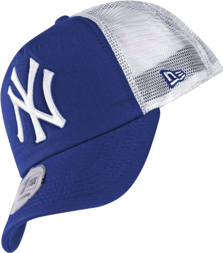 New Era MLB Clean Trucker Cap NY YANKEES Royalblau Weiß, Size:ONE SIZE (Era Hats Trucker New)