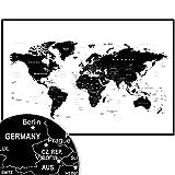 Weltkarte Wanddekoration - Landkarte Wandbild Design Motiv XXL Poster - Design Style World