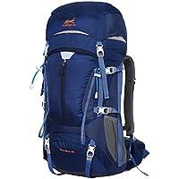 E-show Eshow Trekkingrucksäcke Wanderrucksäcke Reiserucksack für Reisen Wandern und Bergsteigen Wasserdicht Ultraleicht 50L 31 * 60 * 23 mit Regenabdeckung