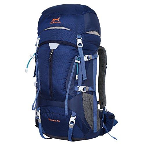 Eshow Trekkingrucksäcke Wanderrucksäcke Reiserucksack 50L für Trekking Wandern und Bergsteigen Wasserdicht Ultraleicht 31 * 60 * 23 mit Regenabdeckung*