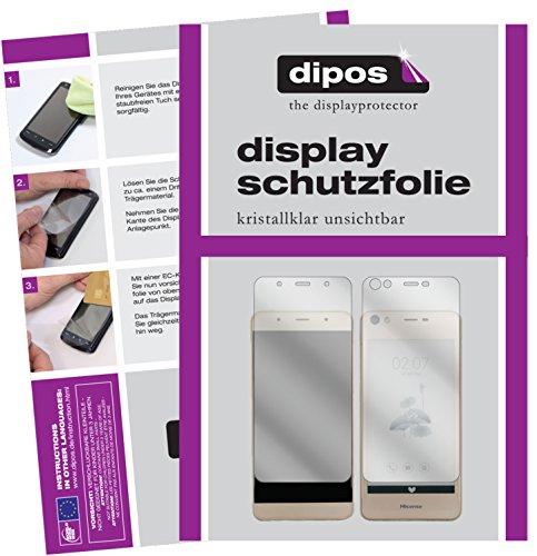 dipos I 2X Schutzfolie klar passend für Hisense A2 Folie Bildschirmschutzfolie