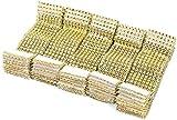 50Pcs Ronds de serviette table Porte-serviettes Bague Diamant ruban d'enroulement avec fermeture Velcro déco pour Noël fête mariage (50pcs Or)