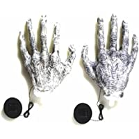 Solar Light-Up Giant Ghoul Hands Halloween Décor