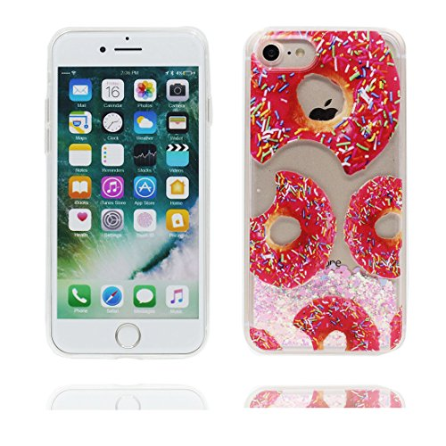 "iPhone 7 Coque, Multiflora Rose Skin Hard Clear étui iPhone 7, Design Glitter Bling Sparkles Shinny Flowing Apple iPhone 7 Case Cover 4.7"", résistant aux chocs beignet"