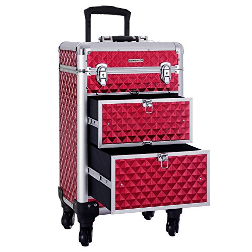SONGMICS SONGMICS Valise maquillage ABS Rouge 34 x