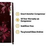 LG 190 L 3 Star Direct-Cool Single Door Refrigerator (GL-B201ASAW.ASAZEBN, Scarlet Aster, Inverter Compressor)