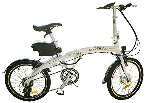 BICICLETA ELECTRICA PLEGABLE (BLANCO)