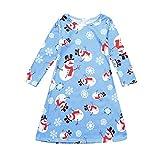 sunnymi 3-8 Jahre Kinder Baby Mädchen Weihnachten Kleid Mama & Ich Cartoon Print Kleid Familie Kleidung